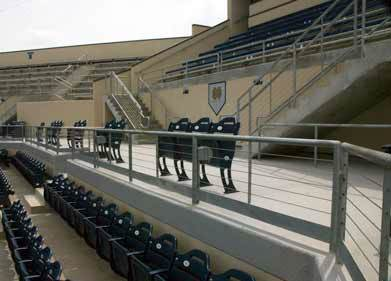 Notre Dame Softball Field Railings and Stairs 2010