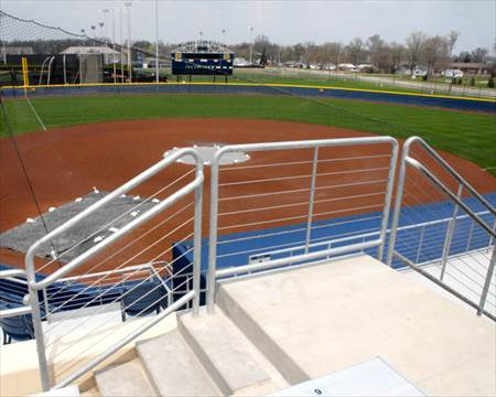 Notre Dame Softball Field Railings 20