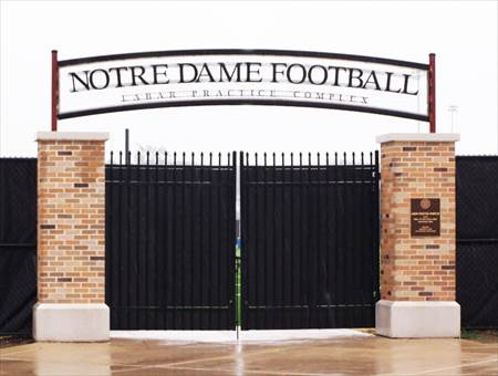 Gate for University of Notre Dame