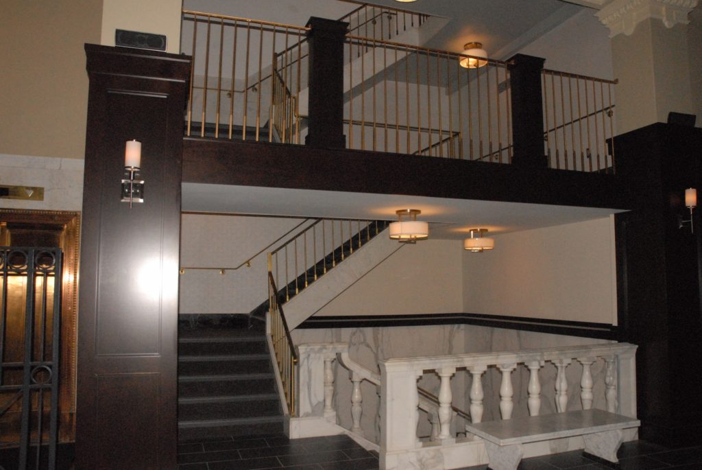 Interior Bank Brass Railings 2013