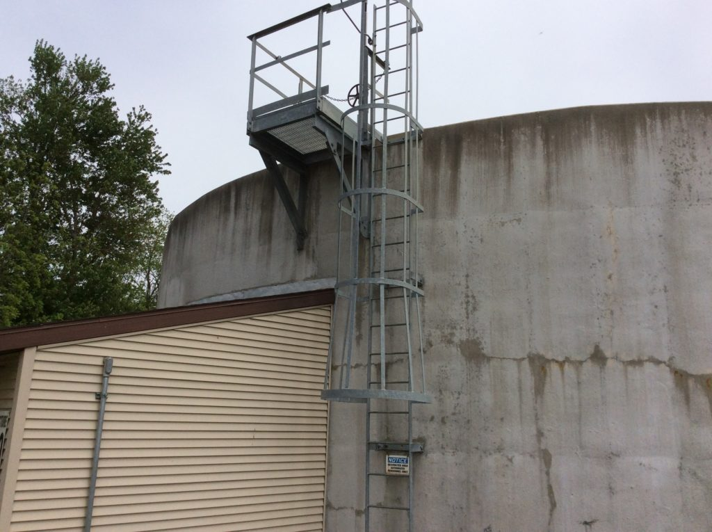 Waste Water Treatment Plant Access Ladder
