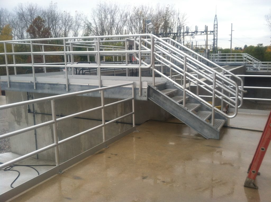 Waste Water Treatment Plant Stairs, Rails, and Catwalk