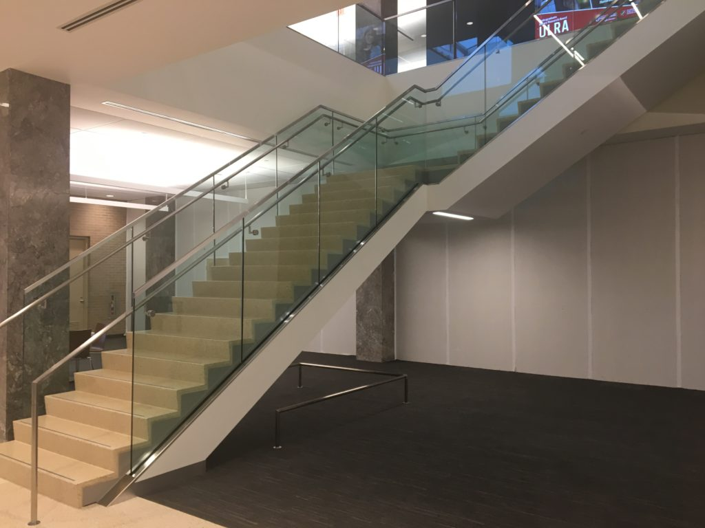 Notre Dame Hesburg Library Floating Stairs 2018