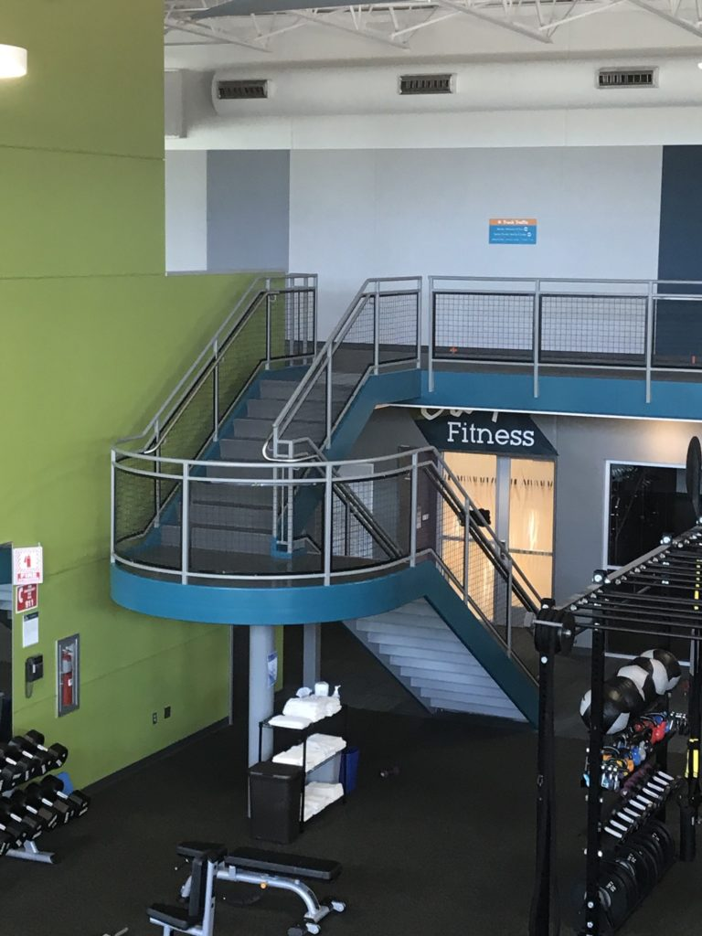 Beacon Health and Fitness Center Stair and Railings 2017