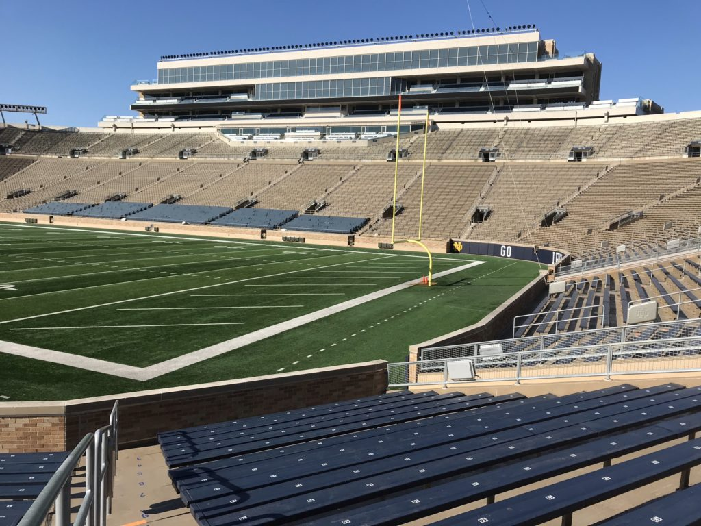 ND Stadium Railings and Stairs 2017